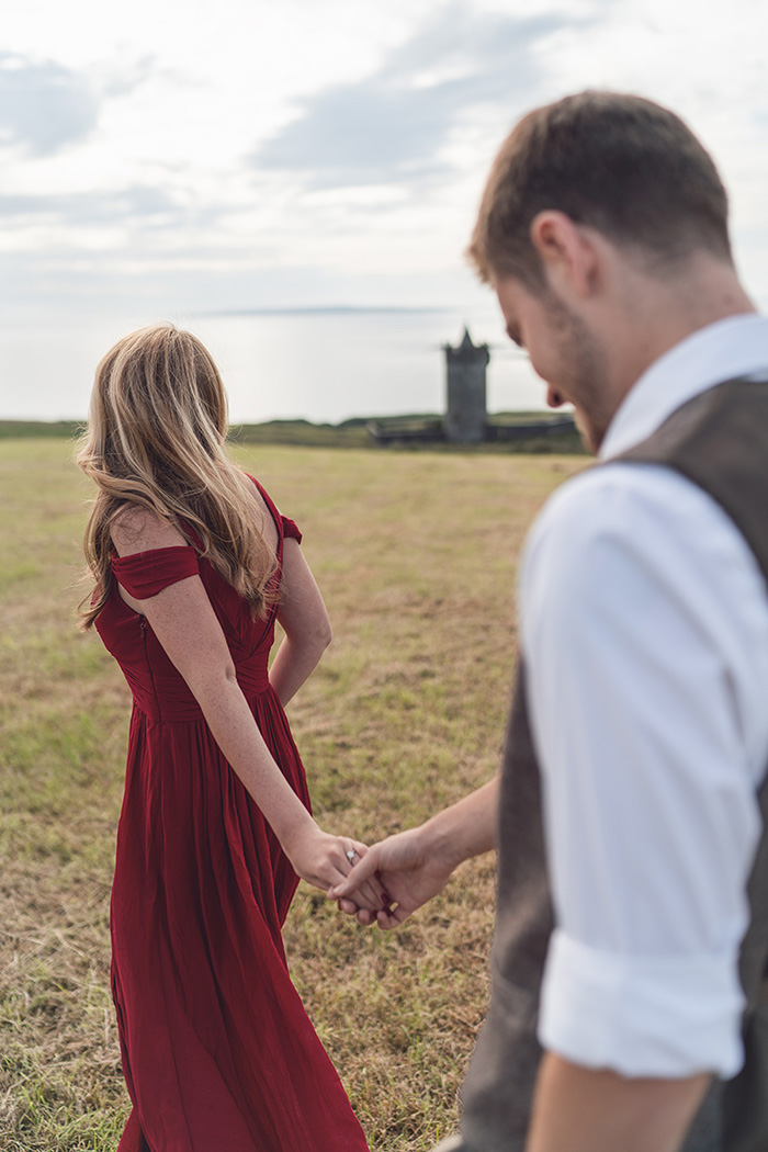 Engagement photography session with Gerard Conneely Photography near the cliffs of Moher