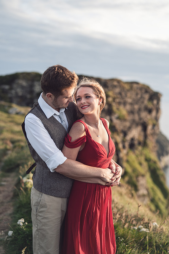 Photographer for engagement shoot at the cliffs of moher