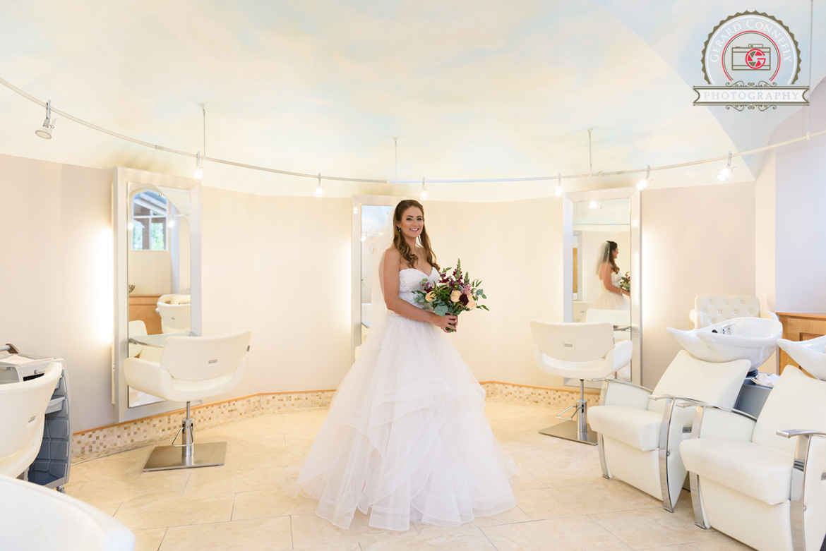 Dromoland Castle bridal getting ready in the spa at Dromoland