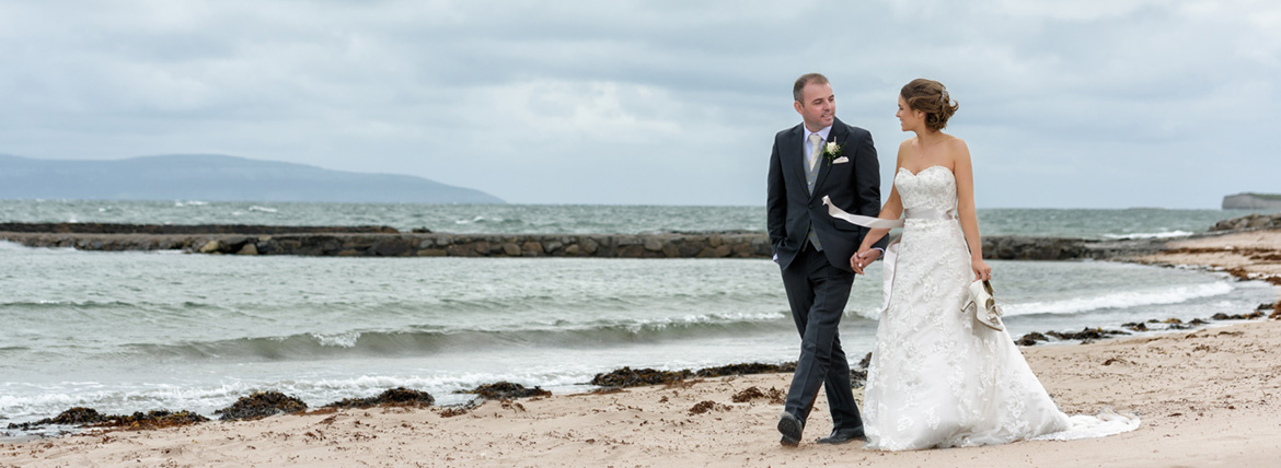 wedding photography on the beach salthill prom