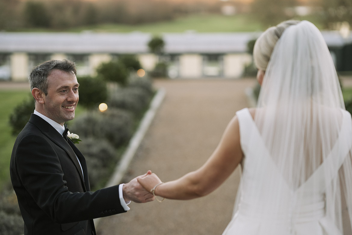 Wedding photography of a couple at the glenlo abbey hotel in Galway