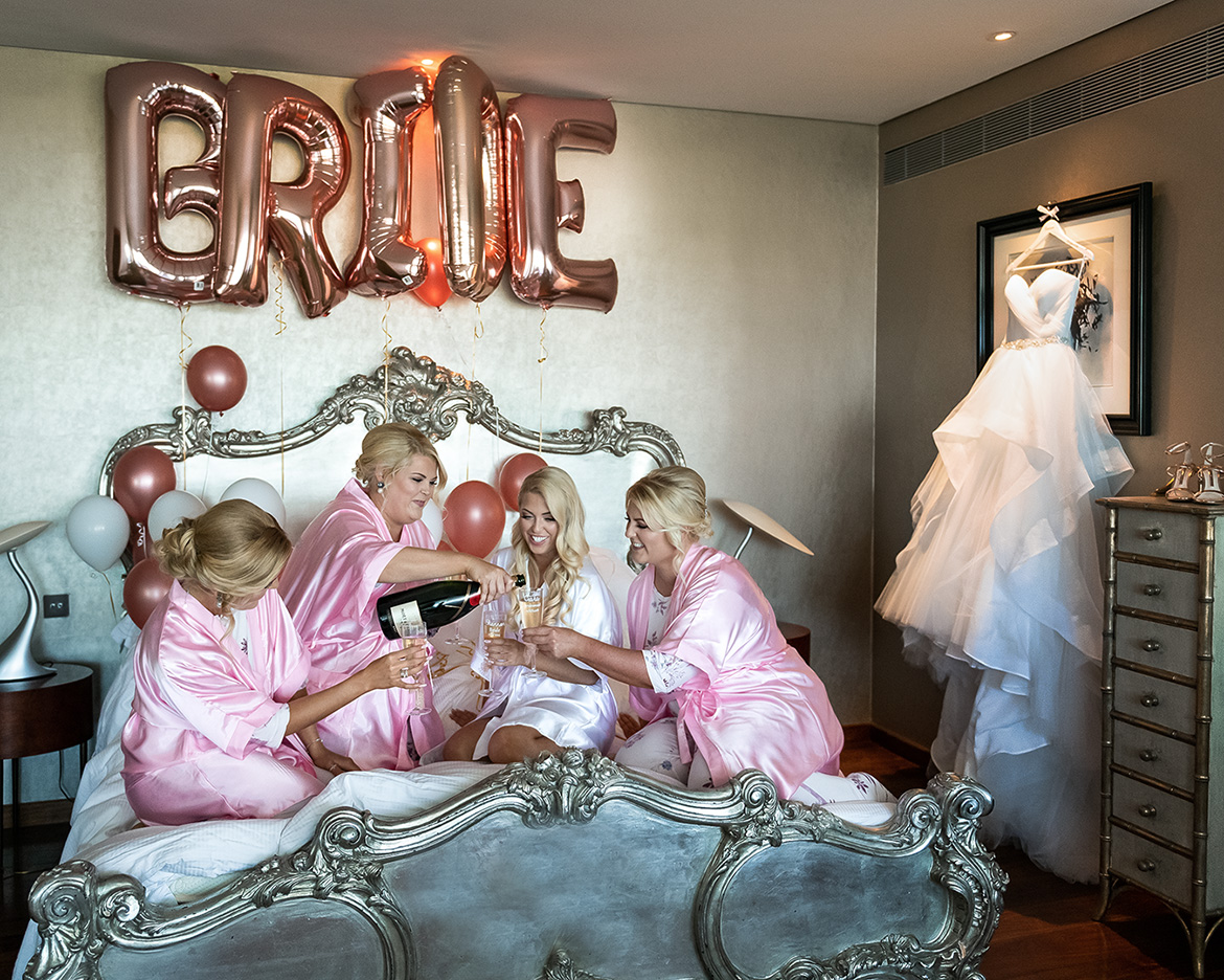 bridal suite at the g hotel in Galway