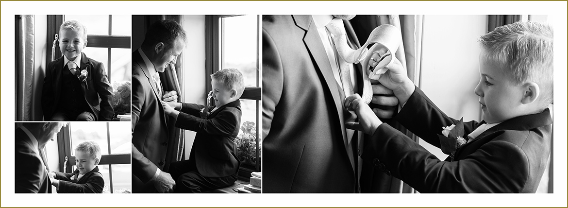 wedding album father and son