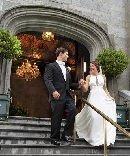 Wedding photography  at Dromoland Castle Review by bride and groom