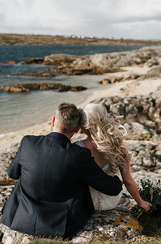 wedding photography at Coral Strand Beach in Carraroe